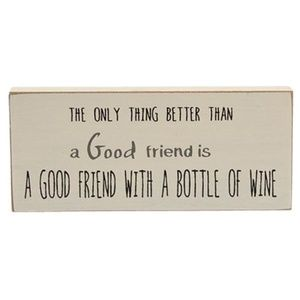 Friends And Wine Sign